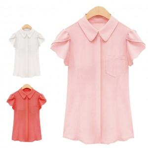 女性のシフォンシャツ短い-袖レディースターン-ダウン襟花びらすべて-一致させるah3023甘いシャツ.jpg_640x640